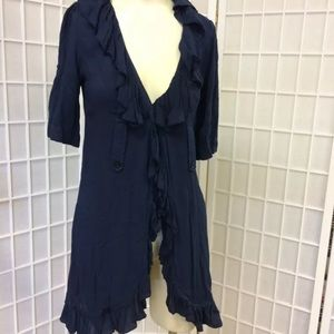Poetry woman's navy blue cardigan size S